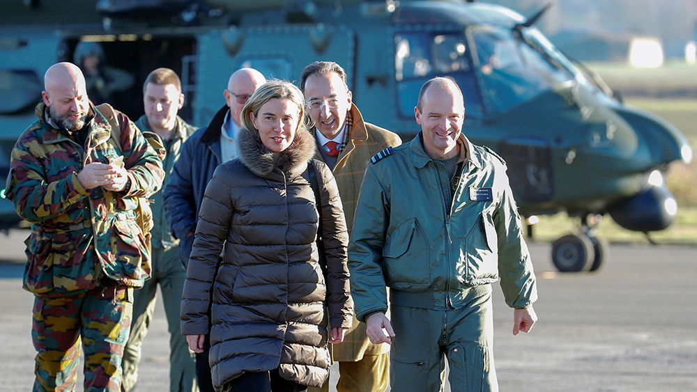 European Union foreign policy chief Federica Mogherini arrives at Florennes airbase ahead of the Black Blade military exercise involving several European Union countries and organised by the European Defence Agency while the European Union unveiled on Wednesday its biggest defense research plan in more than a decade, in Florennes, Belgium November 30, 2016. REUTERS/Yves Herman - RTSU0IC